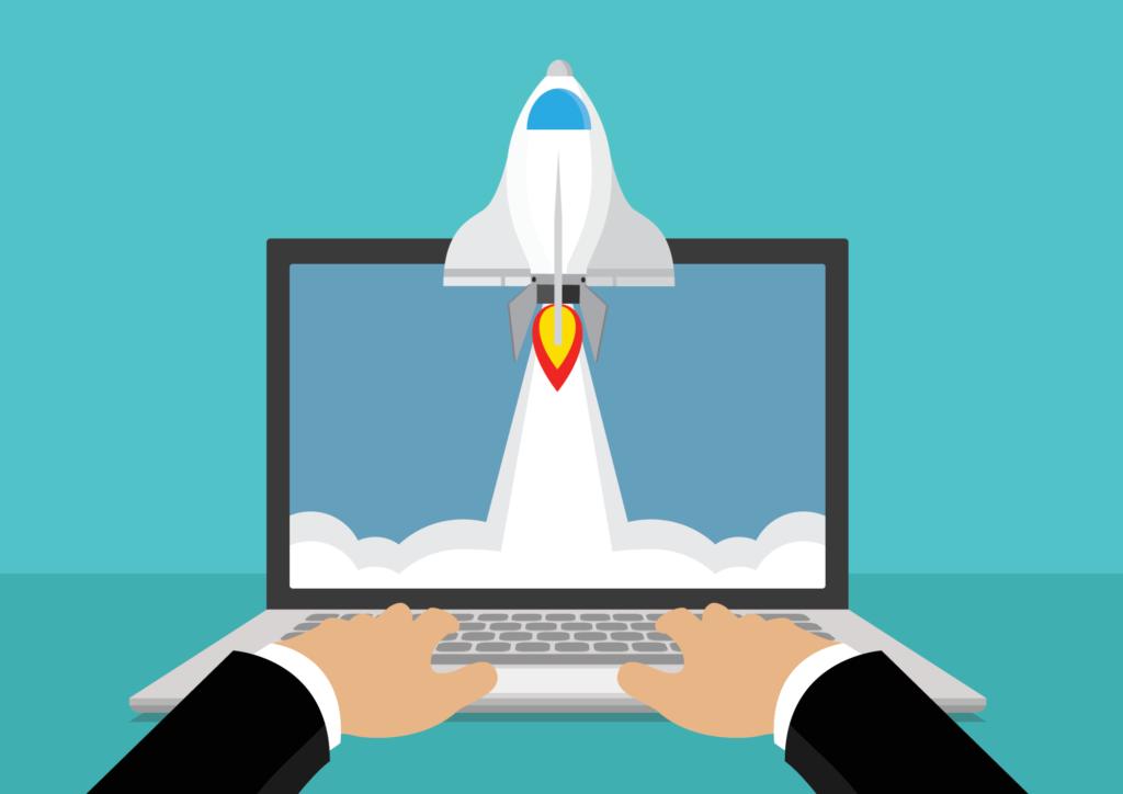 improve website speed rocket computer